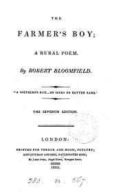 The farmer's boy; a rural poem [ed. by C. Lofft. On fine paper].