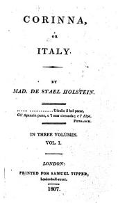 Corinna; Or, Italy: Volume 1