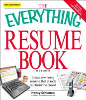 The Everything Resume Book PDF