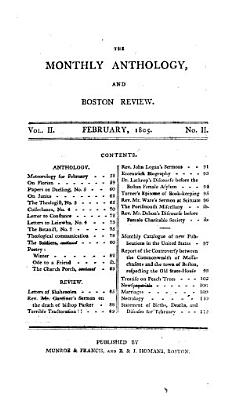 The Monthly Anthology  and Boston Review PDF