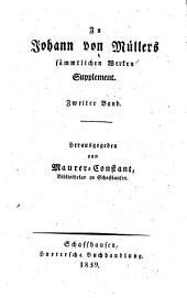 Briefe an Johann von Müller: (Supplement zu dessen sämmtlichen Werken)