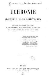 Uchronie (l'utopie dans l'histoire): Esquisse historique apocryphe du développement de la civilisation européene tel qu'il n'a pas été, tel qu'il aurait pu étre. ̓