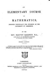 An Elementary Course of Mathematics, etc. (Appendix to the first edition.)