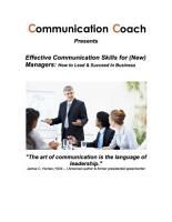 Effective Communication Skills for  New  Managers  How to Lead   Succeed In Business PDF