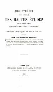 Bibliothèque de l'École des hautes études: Sciences historiques et philologiques