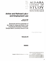 Airline and Railroad Labor and Employment Law PDF