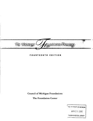 The Michigan Foundation Directory PDF