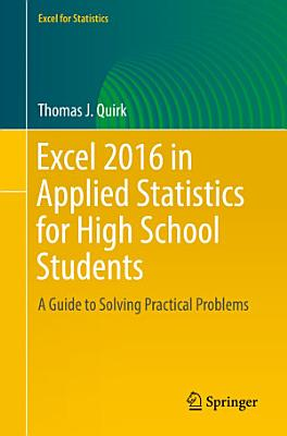 Excel 2016 in Applied Statistics for High School Students PDF