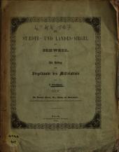 Die Städte- und Landessiegel der Schweiz0: ein Beitrag zur Siegelkunde des Mittelalters, Band 3