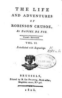 The Life and Adventures of Robinson Crusoe Book