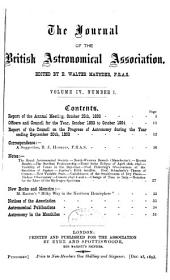Journal of the British Astronomical Association: Volume 4