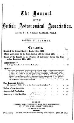 Journal of the British Astronomical Association PDF