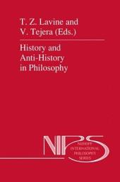 History and Anti-History in Philosophy