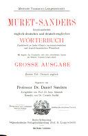 Muret Sanders enzyklop  disches englisch deutsches und deutsch englisches W  rterbuch PDF