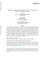 Political Accountability and Regulatory Performance in Infrastructure Industries PDF