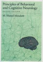 Principles of Behavioral and Cognitive Neurology PDF