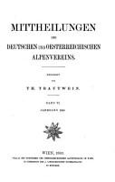 Mittheilungen des Deutschen und oesterreichischen Alpenvereins  redigirt von T  Trautwein PDF
