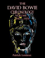 The David Bowie Chronology  Volume 1 1947   1974 PDF
