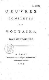 Oeuvres complètes de Voltaire: Volume15