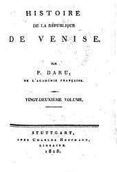 Histoire de la république de Venise: Volumes22à25