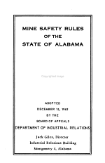 Mine Safety Rules of the State of Alabama