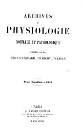 Archives de physiologie normale et pathologique: Volume5