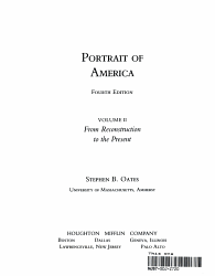 Portrait Of America From Reconstruction To The Present Book PDF