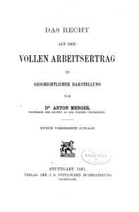 Das Recht auf den vollen Arbeitsertrag in geschichtlicher Darstellung PDF