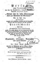 """Versuch einer beantwortung der von der Kursächsichen Leipziger ökonomischen societät ausgegebenen frage: """"Welches sind die besten ermunterungsmittel zur aufnahme des ackerbaues?"""" Eine im jahr 1804 gekrönte ... preissschrift, nebst einer gleichfalls neuen einleitung ..."""