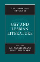 The Cambridge History of Gay and Lesbian Literature PDF