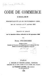 Code de commerce chilien: promulgué le 23 novembre 1865, mis en vigueur le 1er janvier 1867