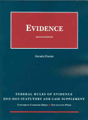 Federal Rules of Evidence Statutory Supplement  2012 2013 PDF