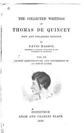 The Collected Writings of Thomas De Quincey: Volume 3