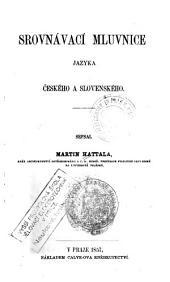 Srovnávací mluvnice jazyka českého a slovenského