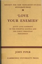 'Love Your Enemies'
