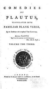 Comedies of Plautus: Menaechmi. Epidicus. Mostellaria. Pseudolus