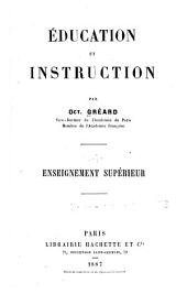 Éducation et instruction: Volume 4