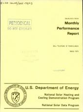 Monthly Performance Report: Bell Telephone of Pennsylvania