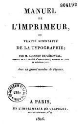 Manuel de l'imprimeur ou traité simplifié de la typographie
