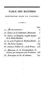 Supplément à la Correspondance littéraire: Parties1à3;Parties1753à1790