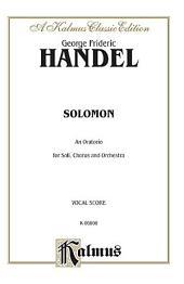 Solomon (1749): Choral Worship Cantata