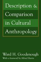 Description and Comparison in Cultural Anthropology PDF