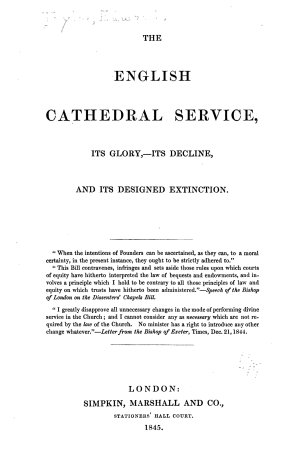 The English Cathedral Service