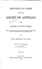 Reports of Cases Decided in the Court of Appeals of the State of New York: Volume 87