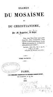 Examen du mosaisme et du christianisme: Volume1