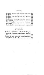 Memoirs of the Life and Writings of Brian Walton, Bishop of Chester, Editor of the London Polyglot Bible: Volume 2