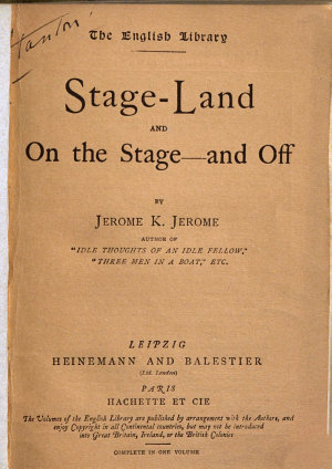 Stage land and on the Stage   and Off PDF