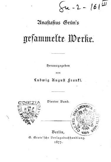 Anastasius Gruns gesammelte Werke PDF