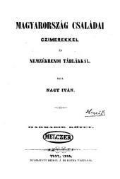 Magyarország családai: Czimerekkel és nemzékrendi táblákkal, 3-4. kötet