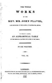 The whole works of John Flavel: late minister of the gospel at Dartmouth, Devon, Volume 3
